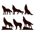 黑色狼剪影矢量