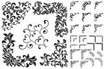 黑白花纹图案边框