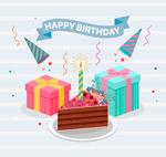 生日蛋糕和礼盒