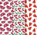 西瓜和樱桃背景
