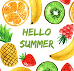彩绘你好夏季