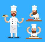 厨师动作矢量