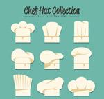 扁平化厨师帽
