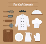 扁平化厨师元素