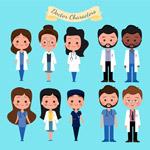 卡通医务人员