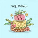 可爱生日蛋糕