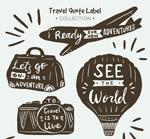 图案旅行语标签