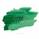 绿色油漆笔触矢量