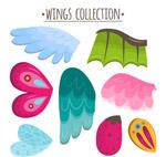 彩色动物翅膀