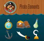 卡通海盗元素