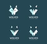 抽象狼头像标志
