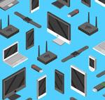 电子产品无缝背景