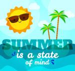 夏季太阳和大海