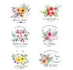 婚礼花卉矢量