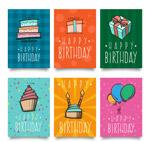 彩绘生日卡片