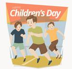 儿童节跑步男孩