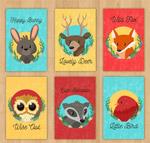 可爱野生动物卡片