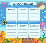 海洋生物课程表