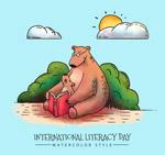 彩绘国际扫盲日