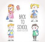 可爱彩绘返校学生