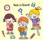 彩绘校园儿童