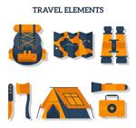 橙色野营物品