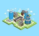 城市无线网络插画