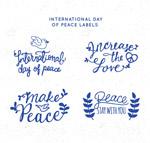 国际和平日艺术字