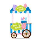 条纹棉花糖车