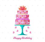 彩绘生日蛋糕