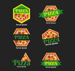扁平化披萨标签
