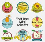 手绘水果汁标签