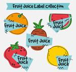 彩绘果汁标签