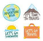 彩色旅行语言标签