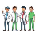 卡通男医务人员