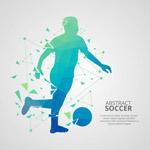 抽象足球球员