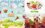 水果冰淇淋插画