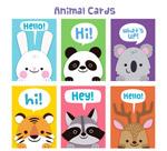 可爱动物问候卡