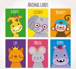微笑动物卡片
