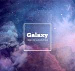 水彩绘星系背景