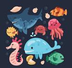 卡通海洋动物