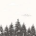 简约森林图案