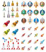 卡通火箭图案