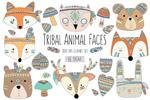 部落动物元素插画