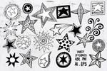 星星涂鸦图案
