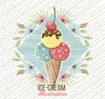 花卉和冰淇淋