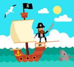 海上航行的海盗船