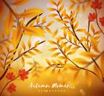 秋季树枝矢量