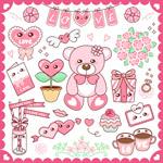 粉红卡通图案