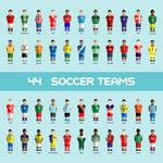 矢量足球队人物